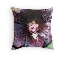 Dark Bloom Throw Pillow