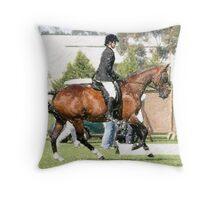 Anglo-Arabian Hunter Horse Portrait  Throw Pillow