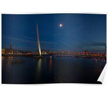 Sailbridge Swansea and Moonlight Poster