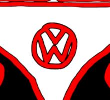Graphic Splittie Campervan Sticker