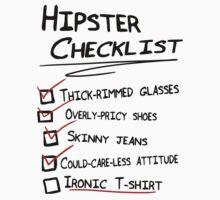 Hipster Checklist by A-Mac