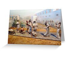 Bow to me SLAVES! Greeting Card