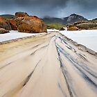 Run off at Squeaky Beach - Wilsons Prom by Hans Kawitzki