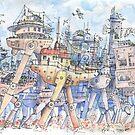 La Citta' in Movimento! by Luca Massone  disegni