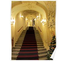 Prague Theater at Christmas time Poster