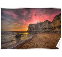 Freshwater Redoubt Sunset Poster