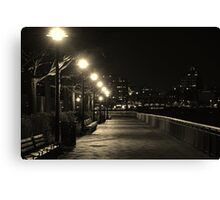 There is something in the New York air that makes sleep useless. Simone Beauvoir Canvas Print