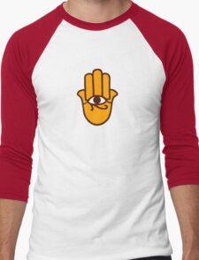 Hamsa Miriam Hand   main fatma Men's Baseball ¾ T-Shirt