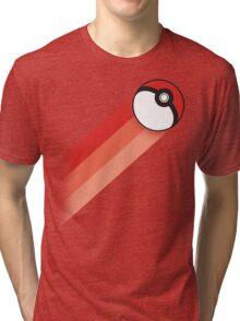 PokeBall Retro Stripes Tri-blend T-Shirt