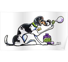 Foxhound Blowing Bubbles Poster