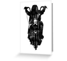 Chopper Motorcycle T Shirt  Greeting Card