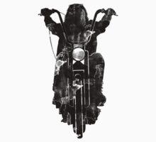 Chopper Motorcycle T Shirt  by Fangpunk