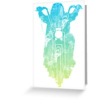 Chopper Motorcycle Color T Shirt  Greeting Card