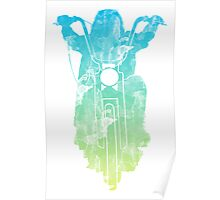 Chopper Motorcycle Color T Shirt  Poster