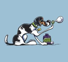 Foxhound Blowing Bubbles Baby Tee
