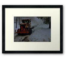 """Heavy Snow"" Framed Print"