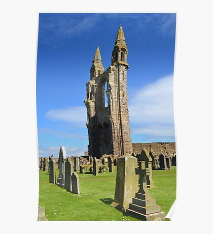 Ruined St Andrews Cathedral Poster
