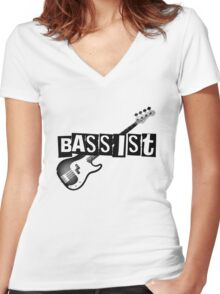 Bass is Best Women's Fitted V-Neck T-Shirt