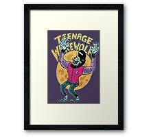 teenage werewolf Framed Print