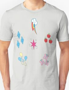 Mane 6 Cutie Marks T-Shirt