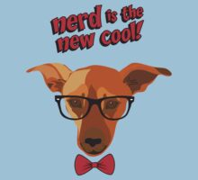 Hipster dog - Nerd is the new cool! Kids Tee