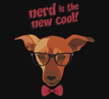 Hipster dog - Nerd is the new cool! One Piece - Short Sleeve