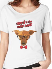 Hipster dog - Nerd is the new cool! Women's Relaxed Fit T-Shirt
