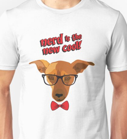 Hipster dog - Nerd is the new cool! Unisex T-Shirt
