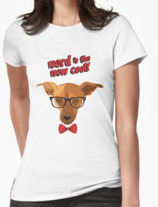 Hipster dog - Nerd is the new cool! Womens Fitted T-Shirt