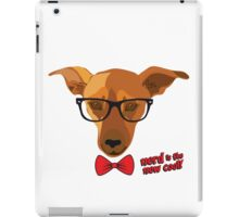 Hipster dog - Nerd is the new cool! iPad Case/Skin
