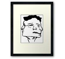 Munted Face  Framed Print