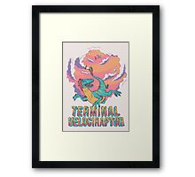 Terminal Velociraptor (Version 2) Framed Print