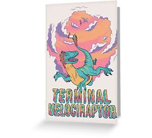 Terminal Velociraptor (Version 2) Greeting Card
