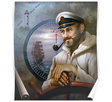St. Simons Island Map Captain 1 Poster