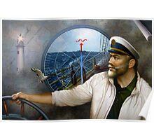 St. Simons Island Map Captain 3 Poster