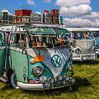 Old VW BUSES  by Tony  Bazidlo