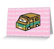 Neko atsume - cardboard van Greeting Card