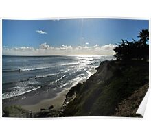 Late Afternoon At Pleasure Point Poster