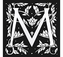 "Art Nouveau ""M"" (William Morris inspired) Photographic Print"