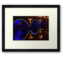 A Neon Reflection Framed Print