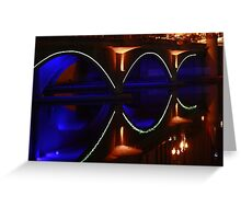 A Neon Reflection Greeting Card