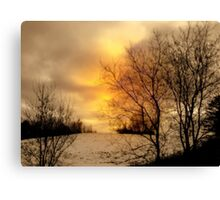 Fiery Evening ! Canvas Print