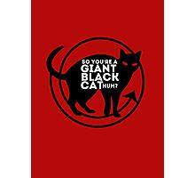 Giant Black Cat - Carmilla Series ; Photographic Print