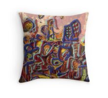 Stressed out city Throw Pillow