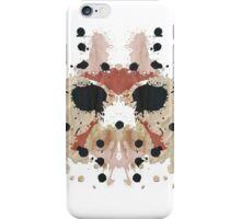 Jason Voorhees Friday the 13th Mask Inkblot iPhone Case/Skin