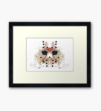 Jason Voorhees Friday the 13th Mask Inkblot Framed Print