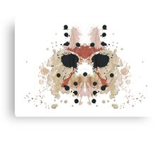 Jason Voorhees Friday the 13th Mask Inkblot Canvas Print