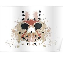 Jason Voorhees Friday the 13th Mask Inkblot Poster