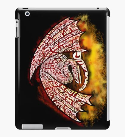 Typographic Smaug, on his pile of gold iPad Case/Skin