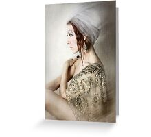 Socialite Mod Greeting Card